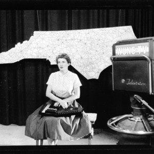 Betty Vaiden Williams, Ballad singer in UNC-TV studio
