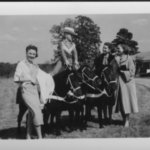 Cotton Maids interviewed by Durham TV station during NC State Fair