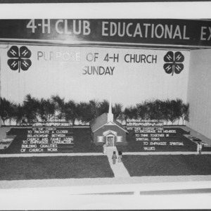 "Alexander County 4-H Club exhibit ""Purpose of 4-H Church Sunday"" at NC State Fair"