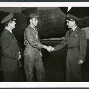 Air Force R.O.T.C. visit by General Crosthwaite