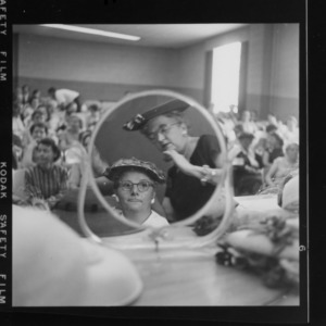 Farm and Home Week; How To Select and Wear Becoming Hats; Mrs. Kathleen Parker, Cedar Grove, North Carolina; Mrs. W. H. Flemming, Route 2, Booneville, North Carolina