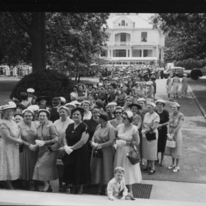Farm and Home Week; Women visit Governor's Mansion during Farm and Home Week
