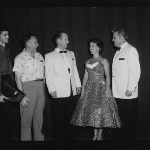 "Poultry Science Week; Musical at Meredith auditorium ""Enchanters"" groups; Doug Franklin, Jane M. Guin, Poultry and Egg National Board, Chicago; Martin Ledoux; Francis Braswell; John Downing"