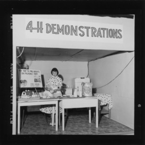 N. C. State Fair: 4-H demonstration Dairy Foods, Jane Hinson, Stanly County