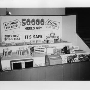 N. C. State Fair: Carlton Blalock, Dairy Extension; Fair Booth on Artificial Breeding