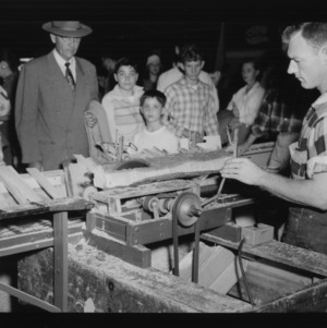 N. C. State Fair: Forestry--model saw mill