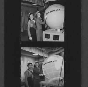 N. C. State Fair: Dairy queens at dairy exhibit; Patricia Lee Simonds, N. C. Dairy Princess; Shari Lewis, American Dairy Princess