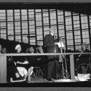 Gov. Hodges speaking in State Fair Arena