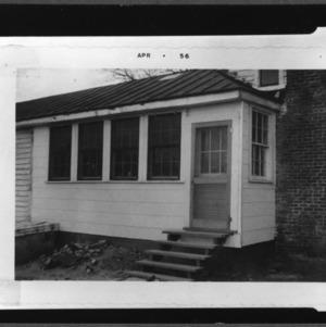 House, fair exhibit, Kitchen, Man sitting in yard, sink