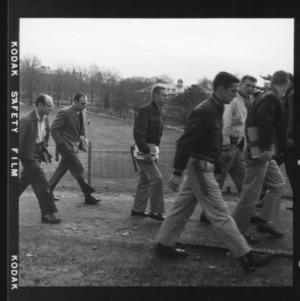 Campus scene: Students Crossing Campus