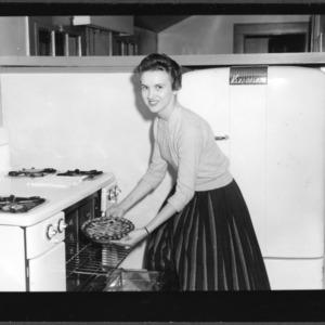 1957 N.C. Cherry Pie Winner with pie