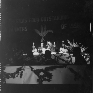 Young Farmer Awards Program in Durham 1957; Picture of the four winners