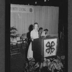 1957 4-H Club Week: Joretta Clark, Public Speaking Winner