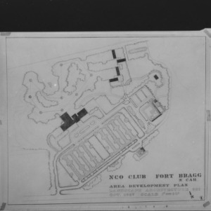 Fort Bragg NCO Club Area Development Plan, Student drawing
