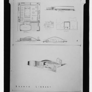 Branch Library architectural drawing