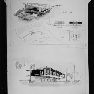 Boat Club architectural drawing