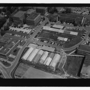 Aerial view of West Campus, including Textile School