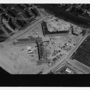 Aerial view of dormitories