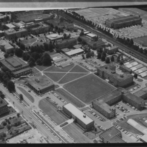 Aerial view of NC State Central Campus