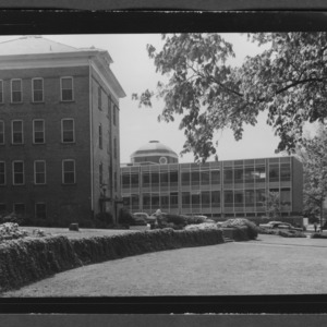 View of Brooks and Watauga Halls from near Leazar