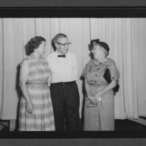Farm and Home Week: Harry and Bonaro Overstreet; Mr. and Mrs. Overstreet with Mrs. English