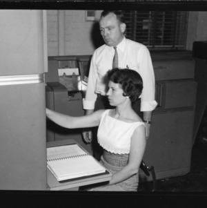 IBM machines, in Patterson Hall