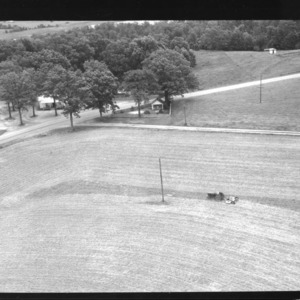 Aerial Views: Clayton Research Station, from air, other farms scenes in Wake County