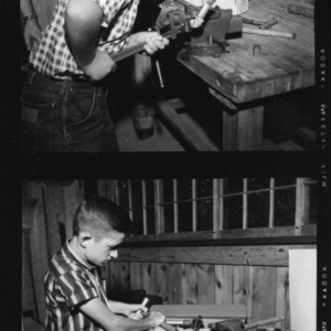 4-H Camp, Camp Millstone, Farm Shop in use during camp week