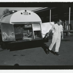 Bulk milk truck at Creamery