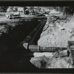 Steam pipe irrigation laid on campus