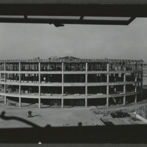 N.C. State College Harrellson Hall round classroom building, construction
