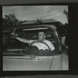 4-H boy in car