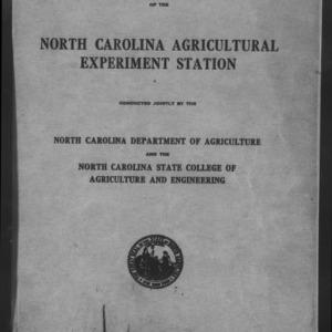 Forty-Sixth North Carolina Agricultural Experiment Station Annual Report