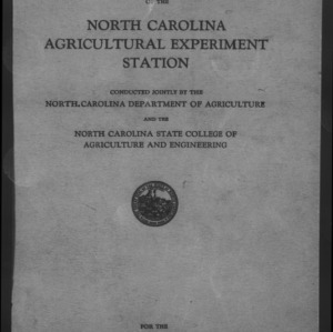 Forty-Seventh North Carolina Agricultural Experiment Station Annual Report
