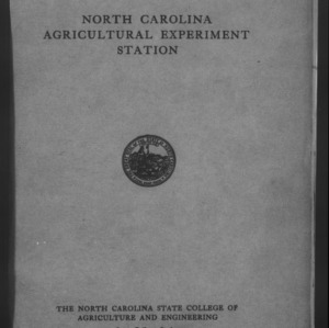 Forty-Eighth North Carolina Agricultural Experiment Station Annual Report