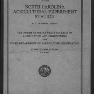 Fiftieth North Carolina Agricultural Experiment Station Annual Report