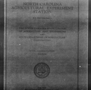 Fifty-Second North Carolina Agricultural Experiment Station Annual Report