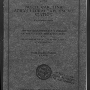 Fifty-Third North Carolina Agricultural Experiment Station Annual Report