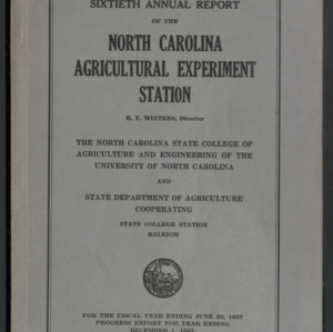 Agricultural Experiment Station, Sixteenth Annual Report, 1936-1937