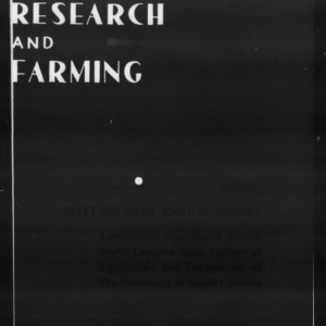Agricultural Experiment Station Annual Report, 1943-1944