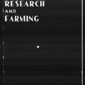 Agricultural Experiment Station Annual Report, 1944-1945