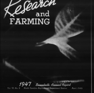 Agricultural Experiment Station Annual Report, 1946-1947