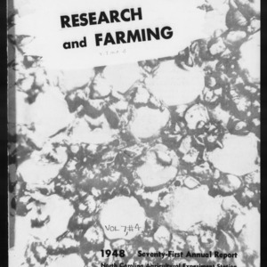 Agricultural Experiment Station Annual Report, 1947-1948