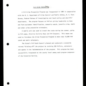 Annual Report 4-H and Youth Program 1980-1981