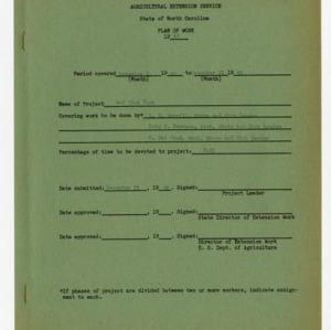 4-H Club Plan of Work 1946