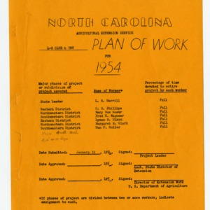4-H Club and YMW Plan of Work