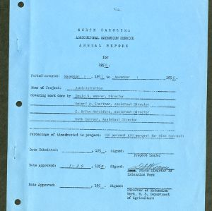 North Carolina Agricultural Extension Service Annual Report for 1958