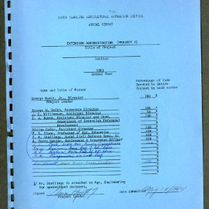 North Carolina Agricultural Extension Service Annual Report for 1963