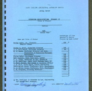 North Carolina Agricultural Extension Service Annual Report for 1964