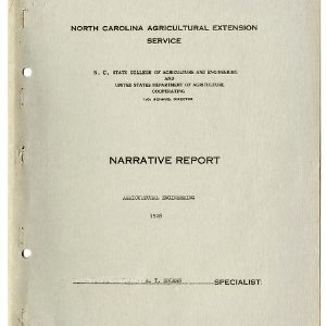 North Carolina Agricultural Extension Service, Agricultural Engineering Annual Report for 1928